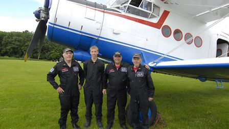 Your crew today, An-2 Club members (L to R) Chris, Culllum, Bill and Ernest