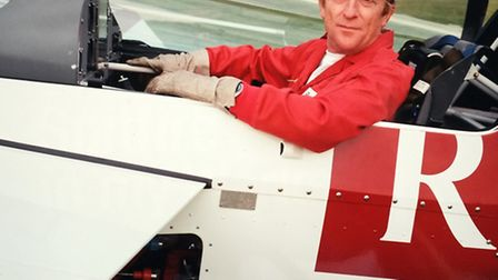 Brian Lecomber as so many will remember him - in his prime and ready to fly a display in one of the