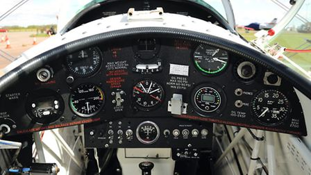 Rear cockpit is kitted out with as many dials and gauges as can be. Photo: Keith Wilson