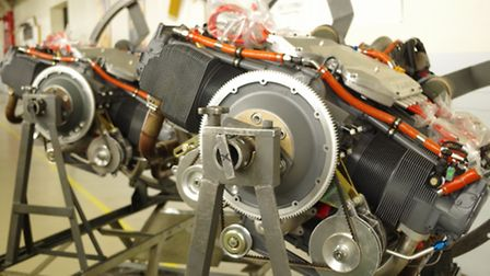TEO-540-C1A engines awaiting installation in the P2012 at Tecnam's factory in Capua (photo: Textron