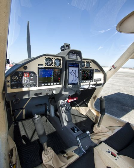 the Executive model flight-tested came with the Dynon and Garmin 'glass'/analogue panel option, neat