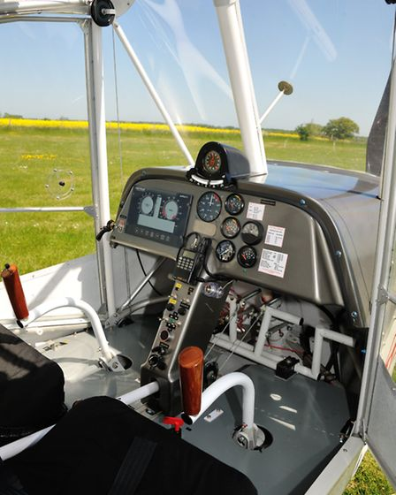 The cockpit combines nicely positioned traditional dual control sticks with a 21st century multifunc