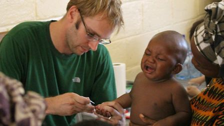 Steve Butwill from Po River Medical Clinic in Liberia's remote Rivercress county