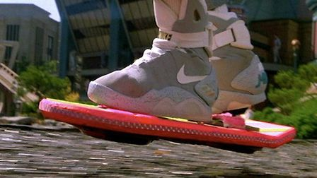 The Back to the Future hover-board