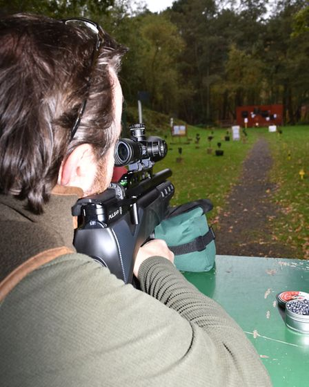 At 55 yards the accuracy was spot-on