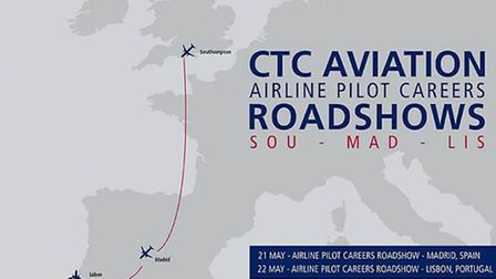Roadshow for aspiring airline pilots coming to Spain and Portugal