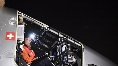 'Bertrand Piccard is ready for the take-off from JFK International Airport to cross the Atlantic' So