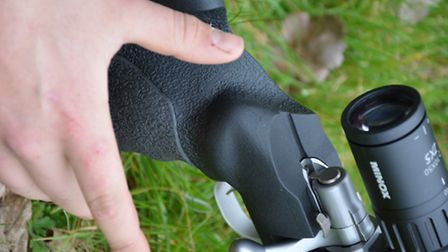The `thumb up` grip is fantastic with a palm swell and slight offset for comfort