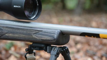 I liked the Steinert Neopod on this rimfire as its light weight and easy detachment suited multiple