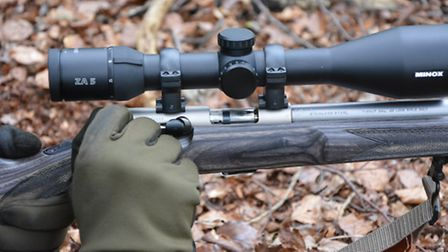 If your hand slips at this point, the action can spring open and flick out the half chambered round