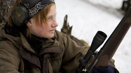 Erika Bergmark spends a lot of time hunting capercaillie and pine marten. She has, since this hunt,