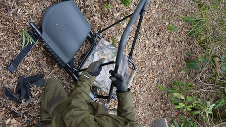 The gun rest is fully adjustable for elevation when you are in the seat and only needs approximate s