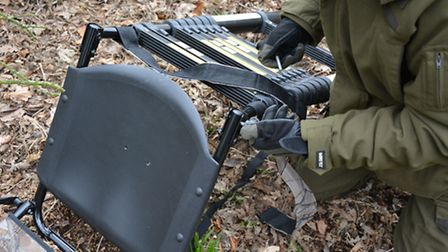 Sturdy M8 Bolts lock the ladder perpendicular to the seat