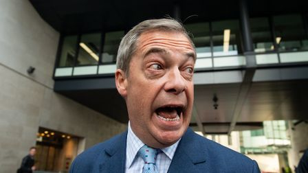 Brexit Party leader Nigel Farage. Photograph: Dominic Lipinski/PA Wire.