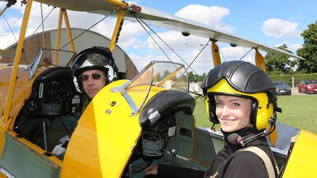 Holly Plamer-Davidson with Cambrisge Flying Group CFI Dave Trouse
