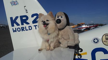 my crew made friends at the Cactus Fly-in