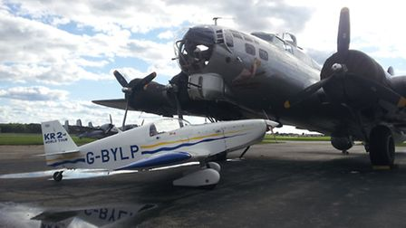 two extremes of aviation together