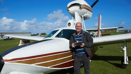 Roderick Morton with his Lake Buccaneer and the Schneider Trophy