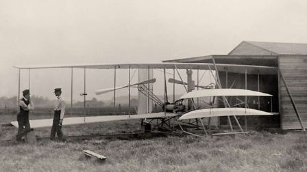 On 17 December 1903, Orville and Wilbur Wright make the first successful flight in a powered, heavie