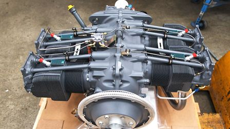 The shiny new Lycoming engine