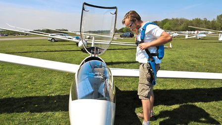 With the danger of collision ever present, glider pilots always wear parachutes