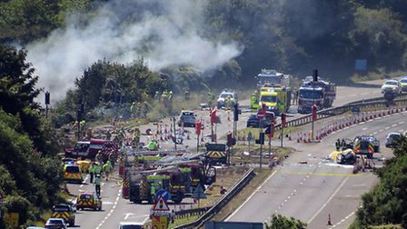 11 men died when the Hawker Hunter crashed into the A27 in 2015 | Daniel Russell, Flickr CC2.0