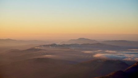The OS Flying Unit was treated to a stunning view of Helvellyn, in the Lake District