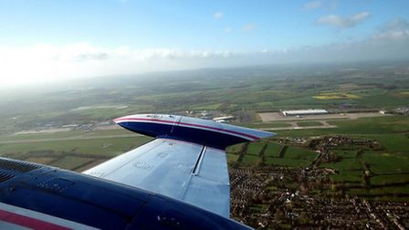 Taking off from East Midlands Airport