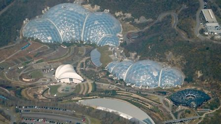 The iconic domes of the Eden Project in Cornwall, snapped in spring