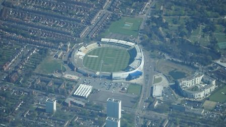 Edgbaston cricket ground in Birmingham, where England and Australia do battle in an Ashes test - the