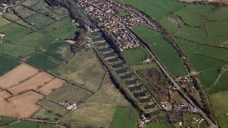 Caen Hill Locks in Wiltshire - 29 locks in a two-mile stretch of the Kennet and Avon Canal