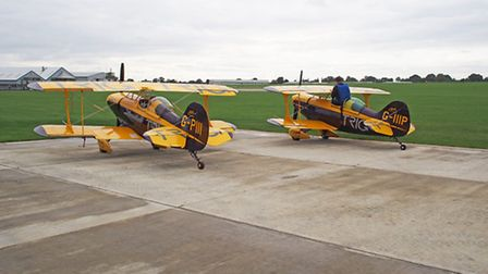 Trig Aerobatic Team due Dave Puleston and Richard Grace about to display