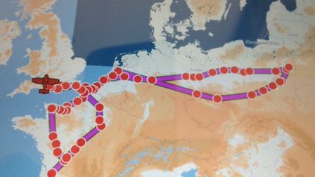 The Jodel's winding route through France, Germany, the Netherlands, Poland and the Czech Republic