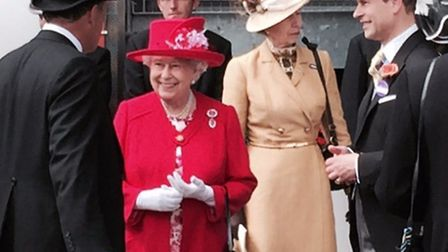 Meeting the Queen when she unveiled Frankel at Ascot