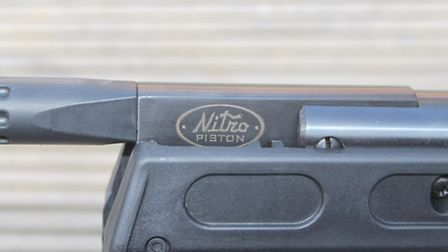 The Nitro logo on the barrel of the NPS tells you this is a gas-ram