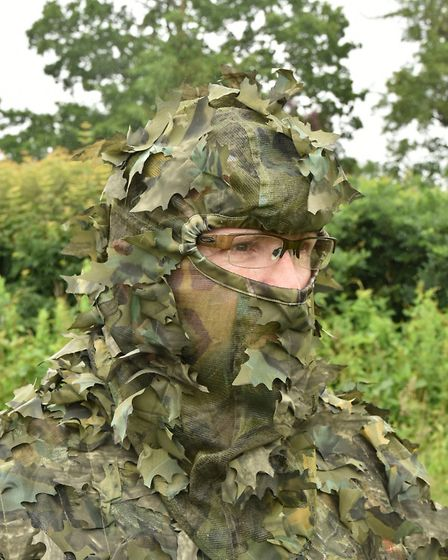 Adding the balaclava completes the ultimate camo suit