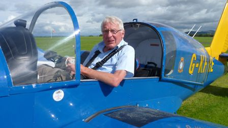 James in the Socata Rallye after his final solo flight