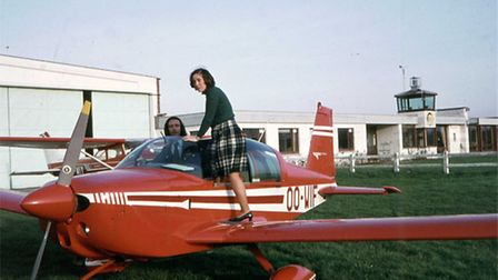 A young Jane in the Glasgow Flying Club