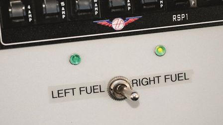 Not the world's best fuel selector — but this is a kitplane and builders can make improvements