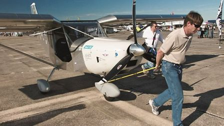 Dragging out the EAA's OneWeekWonder (it really was built in seven days) for the flight test