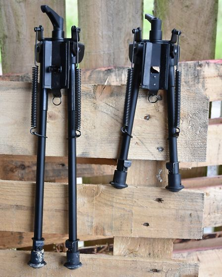 My usual bipod (right) looks tiny by comparison