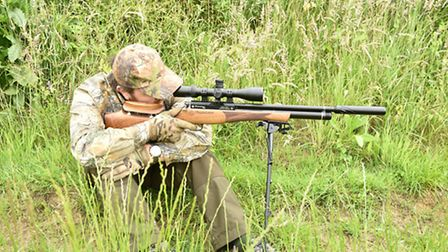 A field target sitting position combined with the long bipod was very stable