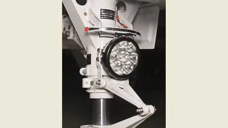 The steering nosewheel mounted multi-LED lamp, part of the system that provides brilliant and reliab