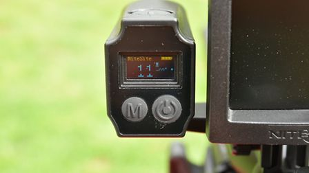 For one minuite after you press the button, the range finder gives a continuous reading