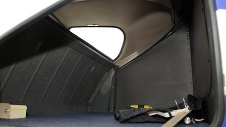 Accessible in flight, the cavernous baggage bay will take 45kg
