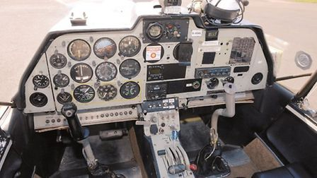 An analogue panel in the best RAF tradition