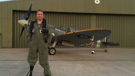 Alan Robinson fulfilled a dream of flying a Spitfire