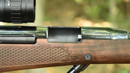 By lowering the side of the loading aperture, thumbing a pellet into the breech is easy