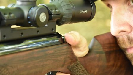 The automatic safety is perfectly placed for the trigger hand thumb