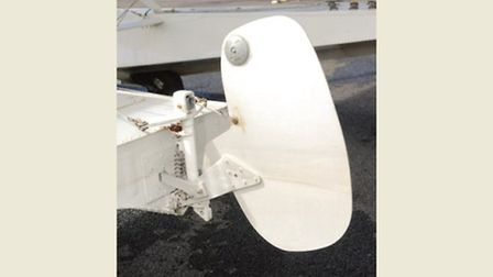 The rudder must be up for take off, flight and landing